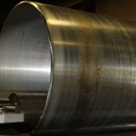 Rolled Aluminum Cylinder in CNC Plate Roll