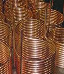 Copper tube coils.