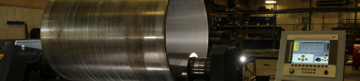 Rolled cylinder in plate roll.